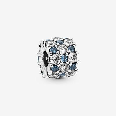 Pandora Blue and Clear Sparkle Charm