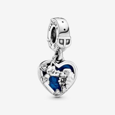 Pandora Disney Lady And The Tramp Heart Dangle Charm
