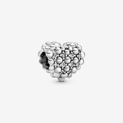 Pandora Beaded Sparkling Heart Charm