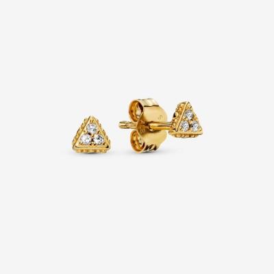 Pandora Sparkling Triangle Stud Earrings