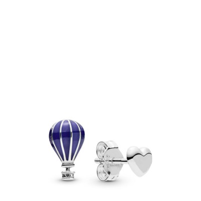 Pandora Hot Air Balloon & Heart Stud Earrings