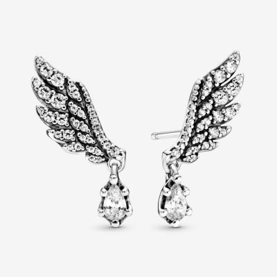 Pandora Dangling Angel Wing Stud Earrings