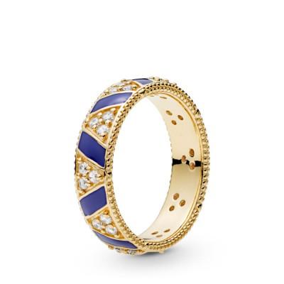 Pandora Exotic Stones, Stripes Ring, Pandora Shine™
