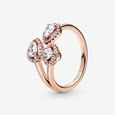 Pandora Geometric Shapes Open Ring
