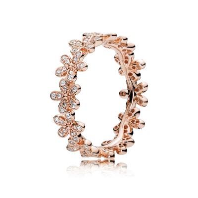 Pandora Dazzling Daisy Ring, PANDORA Rose™ & Clear CZ