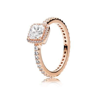Pandora Timeless Elegance Ring, PANDORA Rose™ & Clear CZ