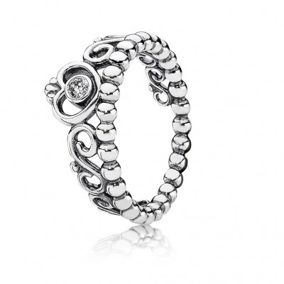 Pandora My Princess Stackable Ring, Clear CZ