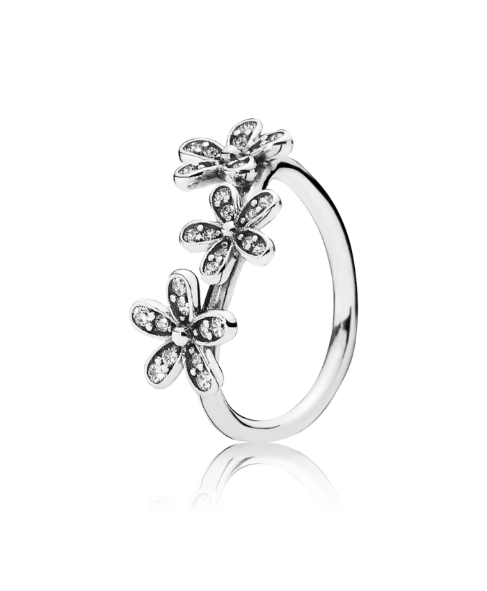 Pandora Dazzling Daisies Stackable Ring, Clear CZ