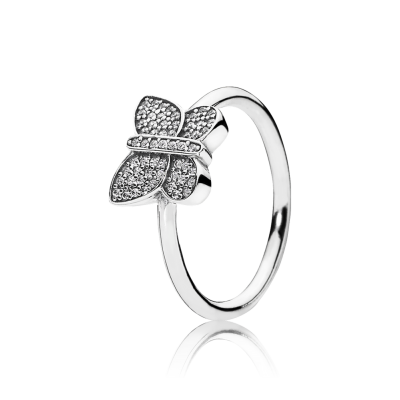 Pandora Sparkling Butterfly Ring, Clear CZ