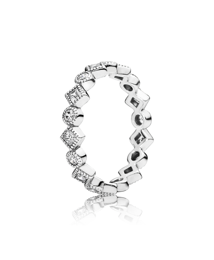 Pandora Alluring Brilliant Princess Stackable Ring, CZ