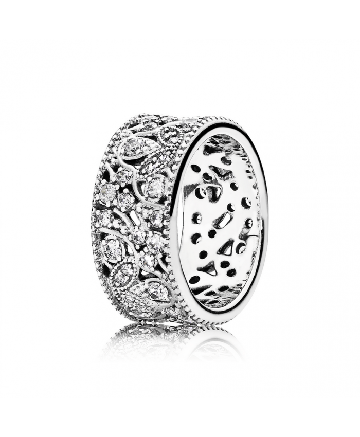Pandora Shimmering Leaves, Clear CZ
