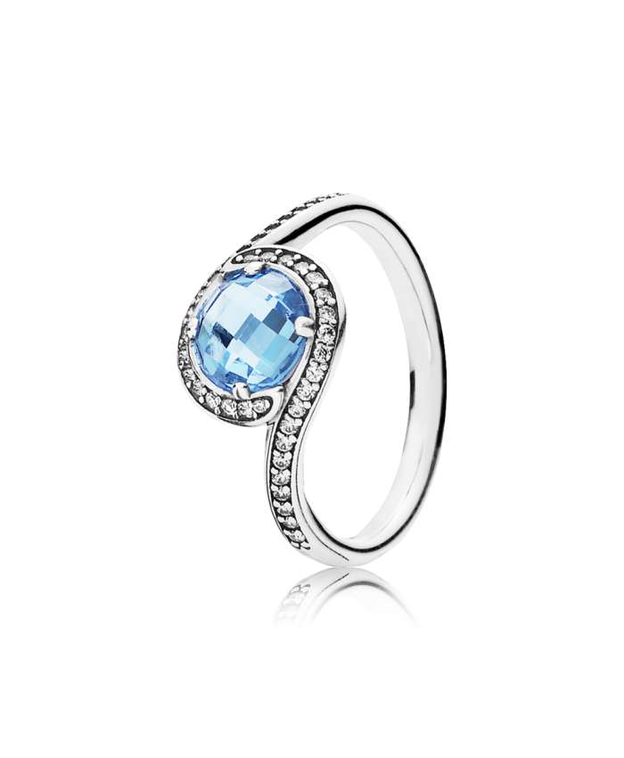 Pandora Radiant Embellishment, Sky-Blue Crystal & Clear CZ