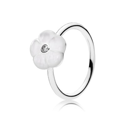 Pandora Luminous Florals, Mother-Of-Pearl & Clear CZ