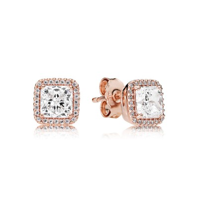 Pandora Timeless Elegance Stud Earrings, Clear CZ