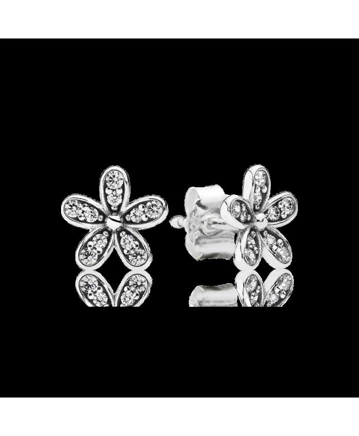 Pandora Dazzling Daisy Stud Earrings, Clear CZ