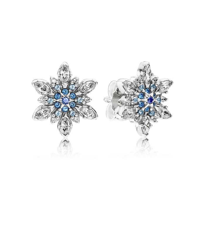 Pandora Crystalized Snowflake, Blue Crystals & Clear CZ