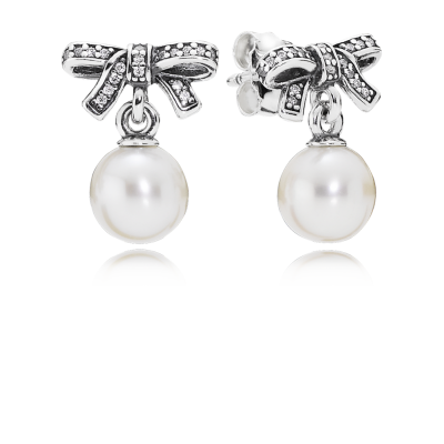Pandora Delicate Sentiments, White Pearl & Clear CZ