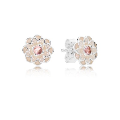 Pandora Blooming Dahlia, Cream Enamel & Blush Pink Crystals