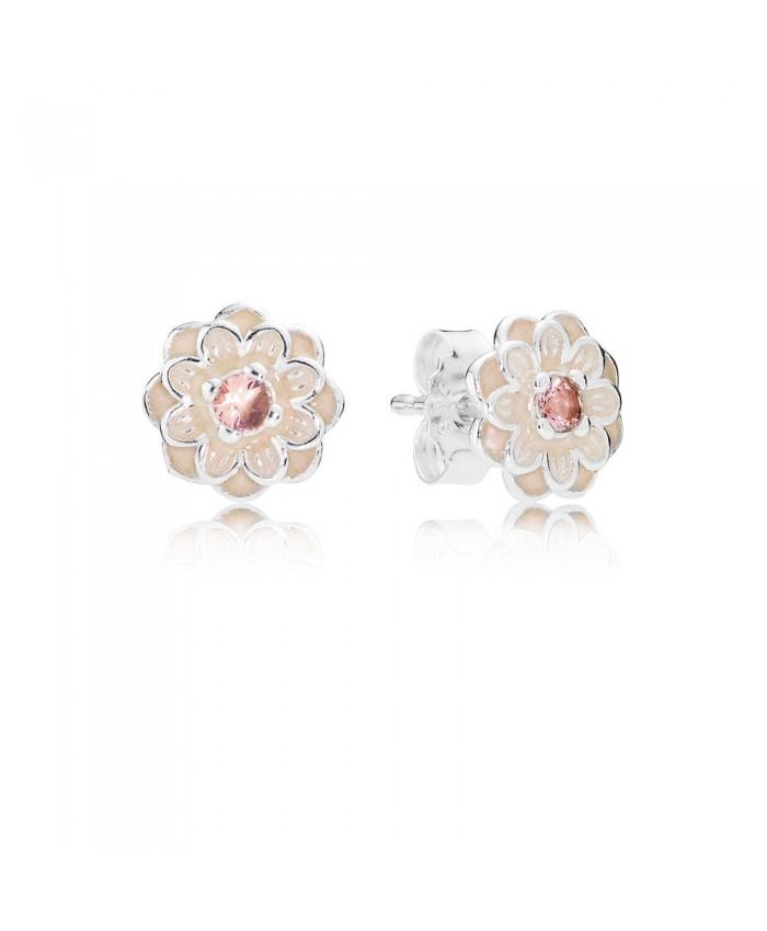 Pandora Blooming Dahlia, Cream Enamel & Blush Pink Crystals