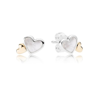 Pandora Luminous Hearts, Mother-Of-Pearl & 14K Gold