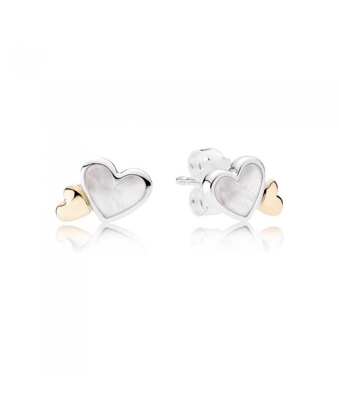 Pandora Luminous Hearts, Mother-Of-Pearl & 14K Gold