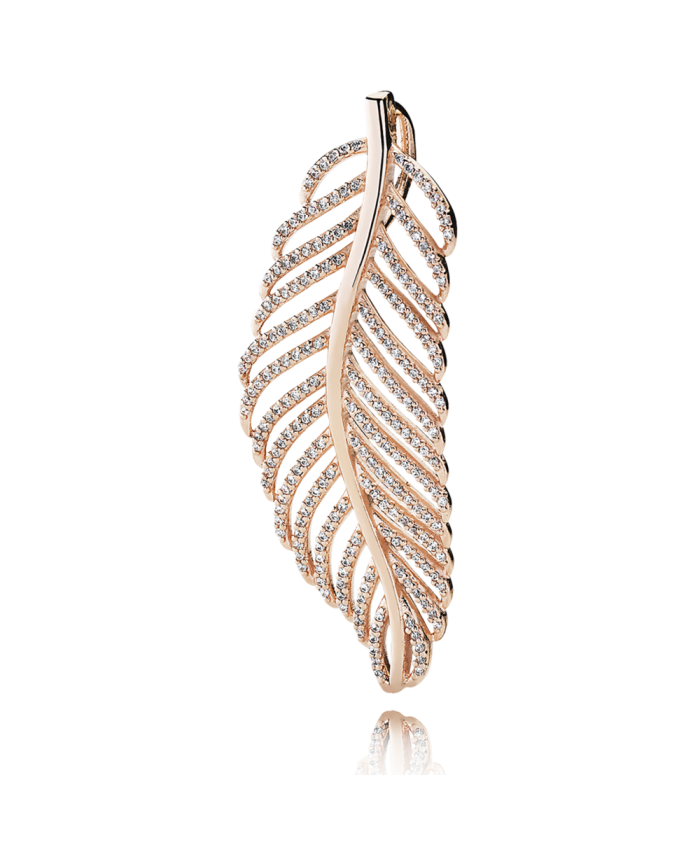 Pandora Light As A Feather Pendant, PANDORA Rose™ & CZ