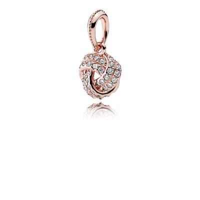 Pandora Sparkling Love Knot, PANDORA Rose™ & Clear CZ