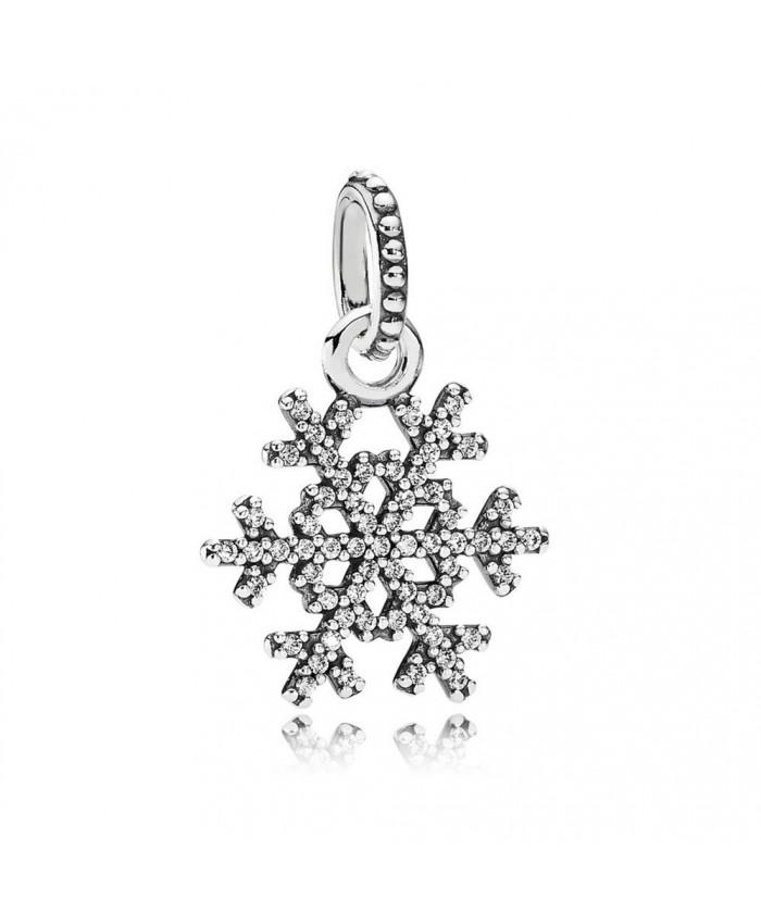 Pandora Winter Kiss Snowflake Pendant, Clear CZ