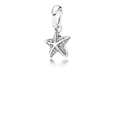 Pandora Tropical Starfish, Clear CZ