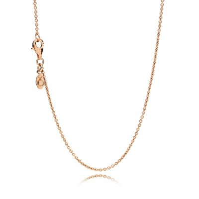 Pandora Necklace Chain, Sterling Silver & 14K Rose Gold