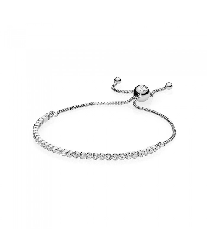 Pandora Sparkling Strand Bracelet, Clear CZ