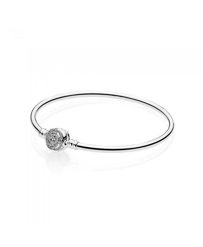 Pandora Disney, Beauty & The Beast Bangle, Clear CZ