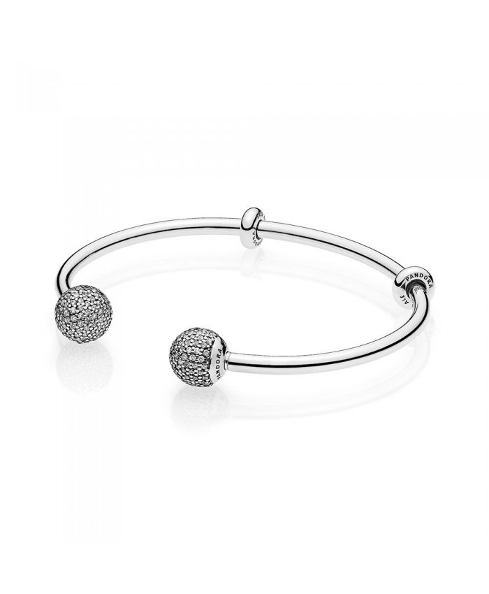 Pandora Open Bangle, Clear CZ
