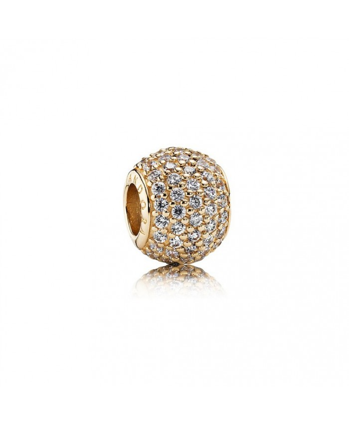 Pandora Pavé Lights, Clear CZ & 14K Gold