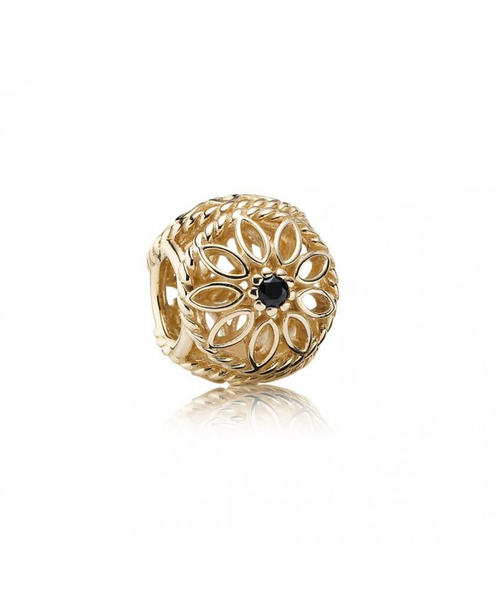 Pandora Delicate Beauty, Black Spinel & 14K Gold