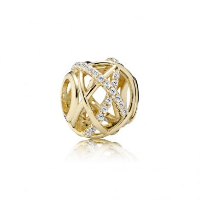 Pandora Galaxy, Clear CZ & 14K Gold