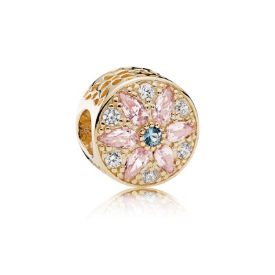 Pandora Opulent Floral, 14K Gold, Multi-Colored Crystals & Clear CZ