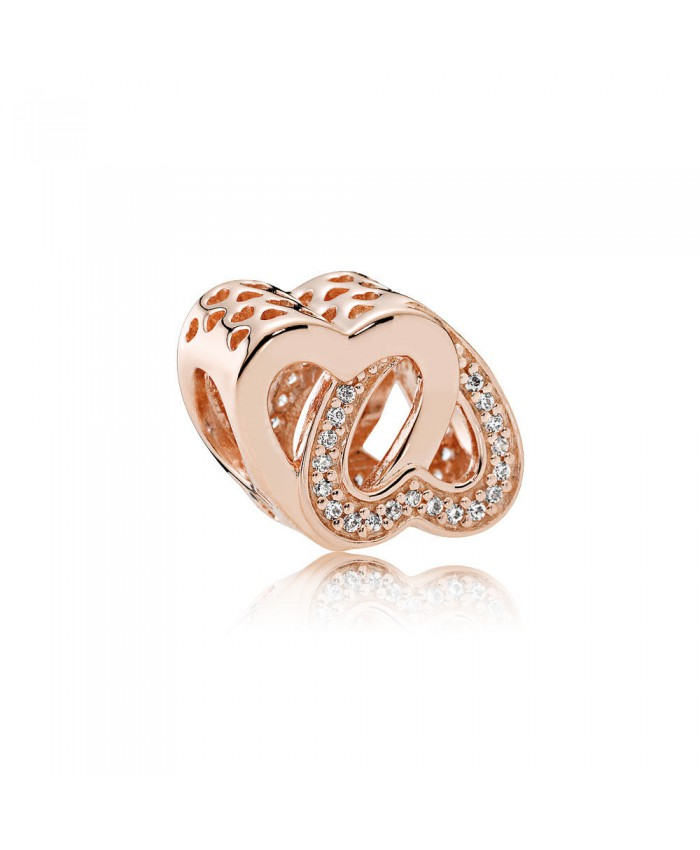 Pandora Entwined Love, PANDORA Rose™ & Clear CZ