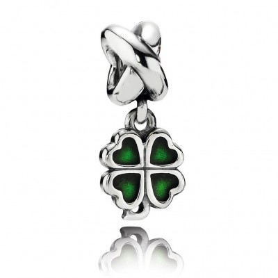 Pandora Four-Leaf Clover, Green Enamel