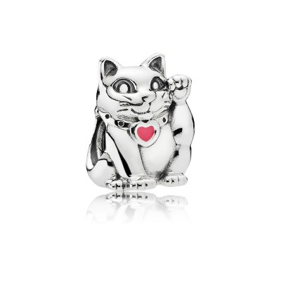 Pandora Lucky Cat, Pink Enamel