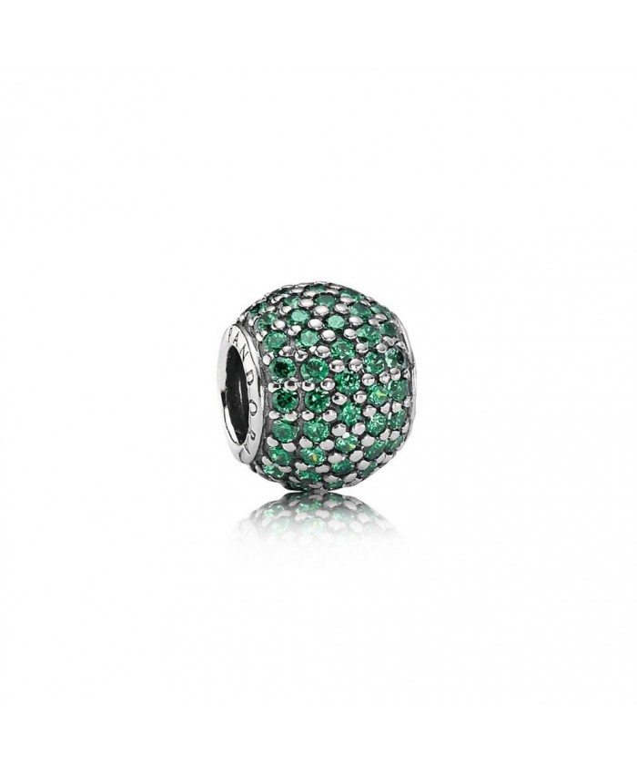 Pandora Pavé Lights, Dark Green CZ