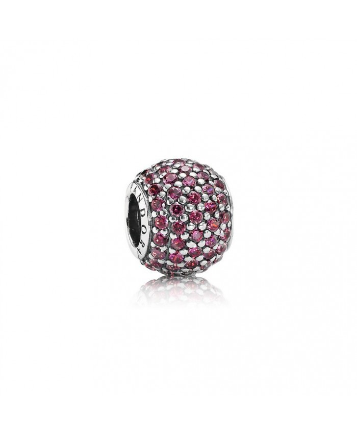 Pandora Pavé Lights, Red CZ