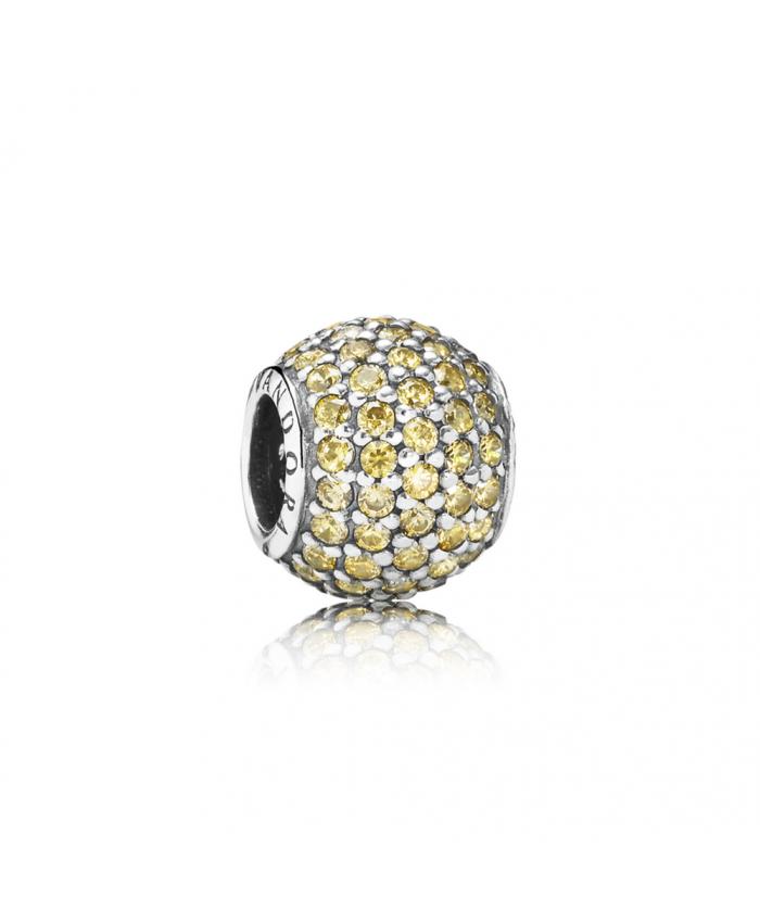 Pandora Pavé Lights, Fancy Golden-Colored CZ