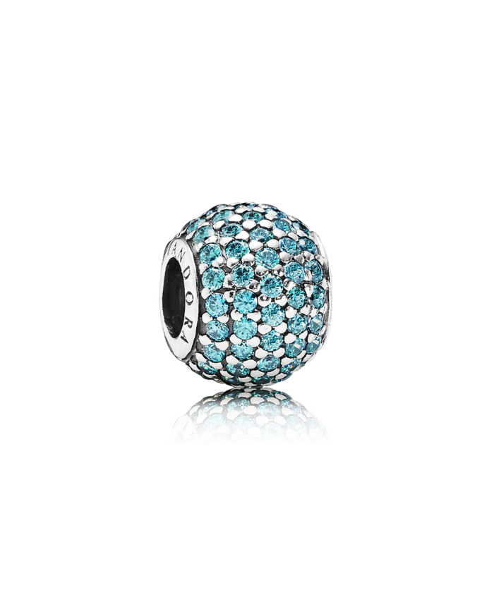 Pandora Pavé Lights, Teal CZ