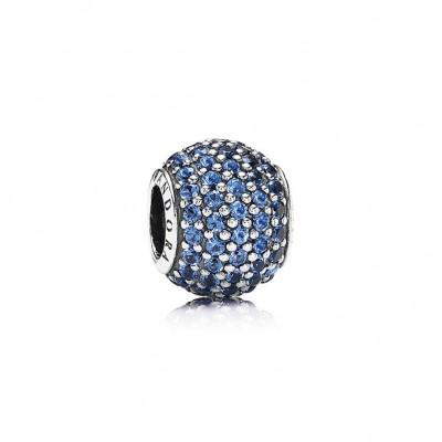 Pandora Pavé Lights, Blue Crystal