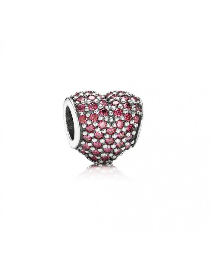 Pandora Pavé Heart, Red CZ