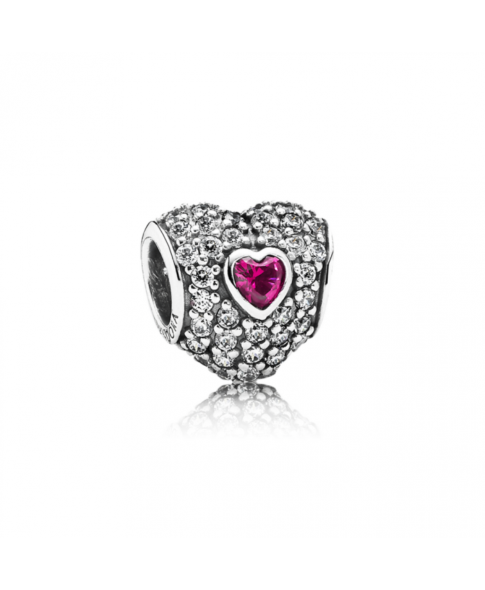 Pandora In My Heart, Clear CZ & Synthetic Ruby