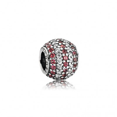 Pandora Nautical Pavé Lights, Red & Clear CZ