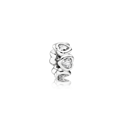 Pandora Space In My Heart Spacer, Clear CZ