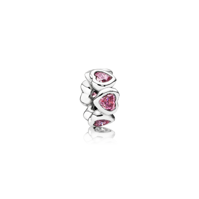 Pandora Space In My Heart Spacer, Fancy Pink CZ